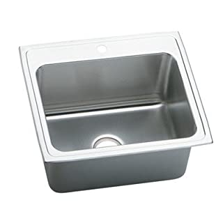 Elkay PLA2522120 18 Gauge Stainless Steel Single Bowl Top Mount Laundry/Utility Sink by Elkay
