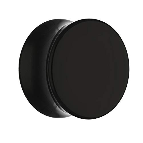 Sold as a Pair Mystic Metals Body Jewelry TDBlackOnyxStone Black Onyx Stone Teardrop Plugs