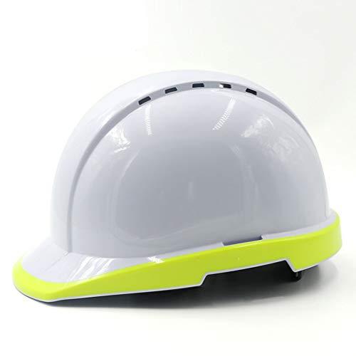Baustelle-Nachtbau-führende elektrische Arbeitsversicherung-Sturzhelm-BAU-Weißmilben-beiläufiger Leuchtstoff hoch-Heller Hut BAU Schutzhelm (Farbe : Fluoreszierendes Gelb) ()