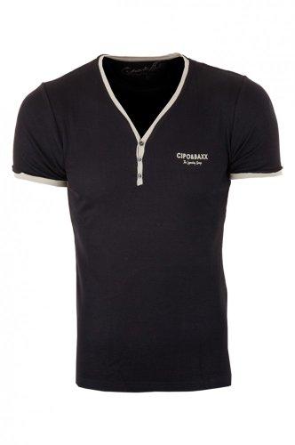 Cipo & Baxx Herren T-Shirt C-5335 Schwarz
