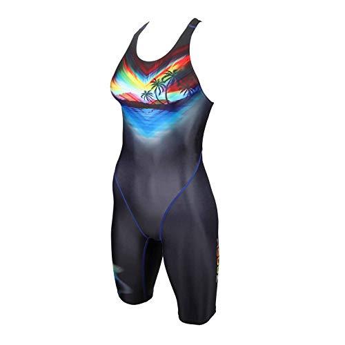 ZAOSU Damen & Mädchen Wettkampf-Schwimmanzug Z-Paradise | Langer Competition Badeanzug für Damen und Mädchen mit Fina-Zulassung, Größe:152