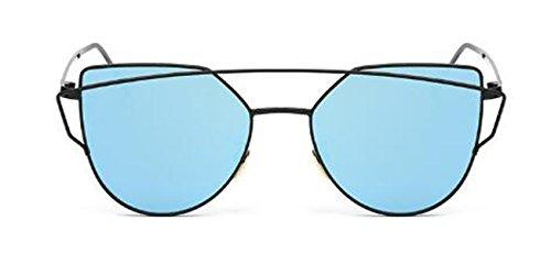 Europäische Und Amerikanische Mode Metall Sonnenbrille Für Männer Und Frauen Notwendig Sonnenbrille,Blue-OneSize