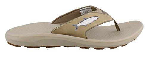 Columbia Fish Flip PFG Sandal Mens British Tan/Collegiate Navy