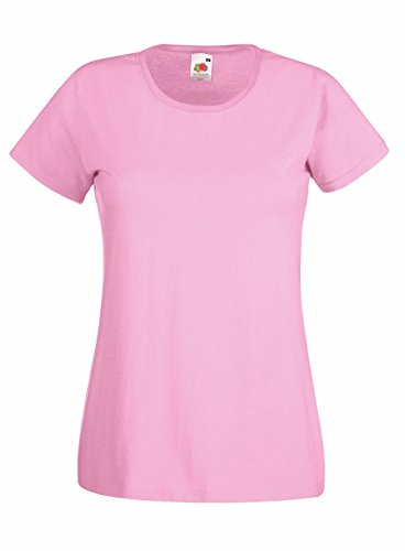Preisvergleich Produktbild Fruit of the Loom: Lady-Fit Valueweight T 61-372-0, Größe:M (12);Farbe:Light Pink