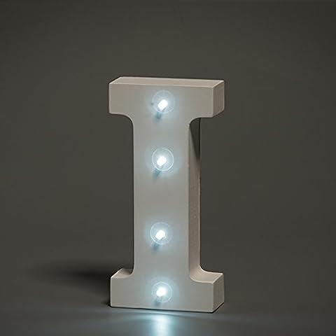 Hasta en luces decorativas LED blanco del alfabeto madera letras–letra i