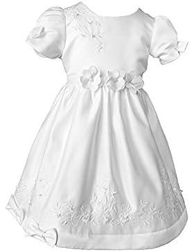 Lucy Taufkleid Festkleid Hochzeitskleid Blumenmädchenkleid Kleid Festlich Taufkleid (Weiß)