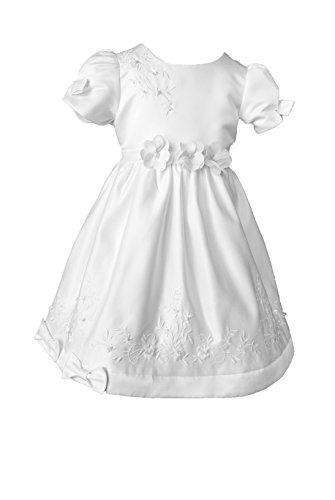 Lucy Taufkleid Festkleid Blumenmädchenkleid (Weiß) (92/98-3A)