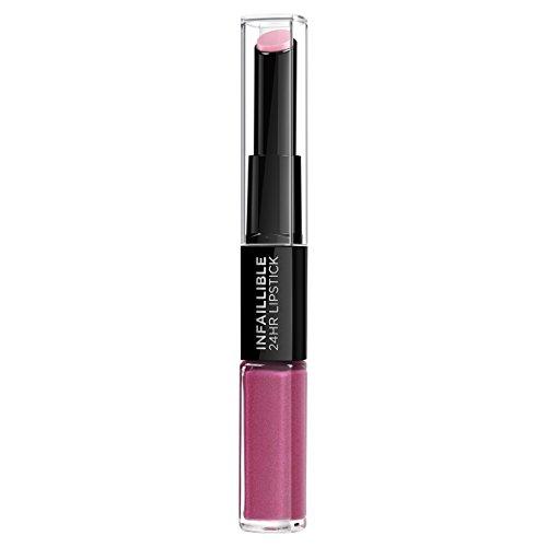 L'Oreal Paris Lippen Make-up Indefectible Lippenstift, 121 Flawless Fuchsia /Liquid Lipstick für 24...