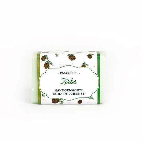 Emarelle Luxus Schafmilchseife Zirbe, sanfte Pflege für Gesicht und Körper, 7er Pack (7 x 100 g)