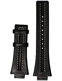 Festina correa de reloj F16185/1 Piel Negro 16mm + costura blanca(Sólo reloj correa - RELOJ NO INCLUIDO!)