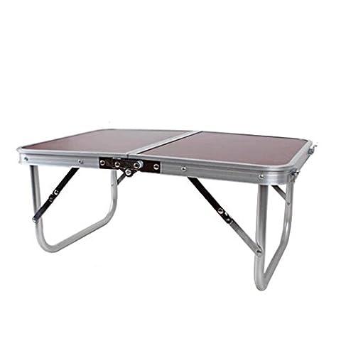 GAOLILI Die neue Multifunktions-Klapptisch faltet kleine Tisch-Notizbuch-Computer-Tabelle Aluminiumtabelle kompakt und einfach, in kleine Kästen zu falten, um Sachen stark zu halten und haltbar zu halten