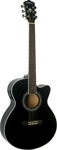 Washburn EA12B Festive Series Mini Jumbo Cutaway Akustik E-Gitarre (Jumbo-akustik-gitarre Bei)