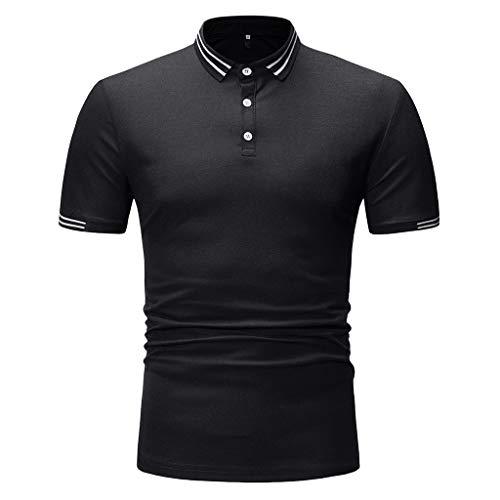 CICIYONER Herren Poloshirt Polohemd Slim Fit Hemd Polo Shirt Kurzarm Weiß Blau Marine Schwarz Rot Gelb Grau Grün S M L XL XXL