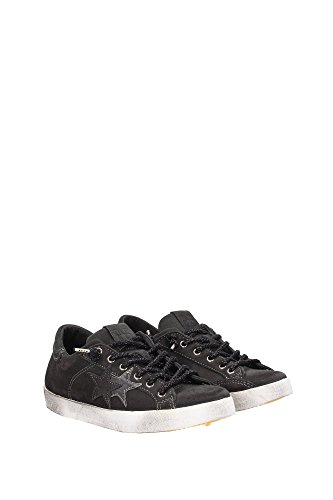 2S885ANTRACITE 2Star Sneakers Femme Chamois Noir Noir