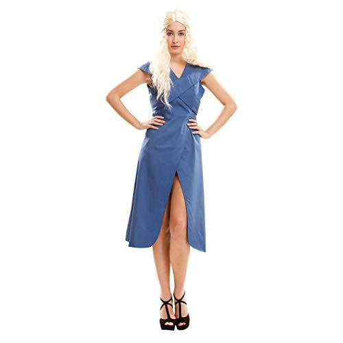 My Other Me Damen Kostüm Königin Drache, M-L, blau (viving Costumes 202062)