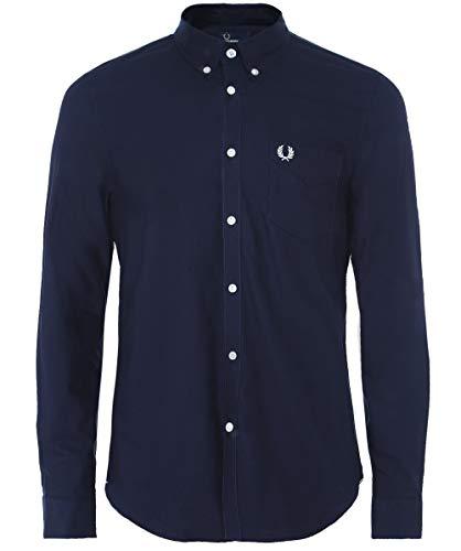 Fred Perry Herren Classic Oxford Shirt Hemd, Navy, Mittel -