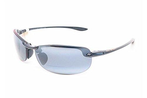 Maui Jim Maui Makaha Reader G805 Mens and Womens Sunglasses Gloss Black 2.5