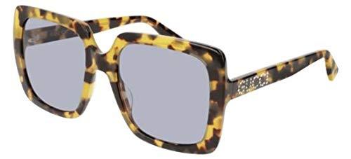 Gucci Sonnenbrillen GG0418S Blonde Havana/Violet Damenbrillen