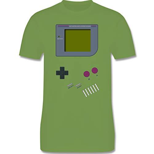 Nerds & Geeks - Gameboy - L - Hellgrün - L190 - Herren T-Shirt ()