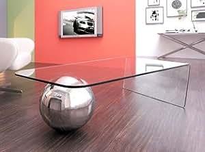 Table basse design Largo - Design avec une brillance du métal et du verre