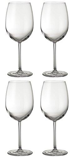 Jamie Oliver Waves Verre à vin rouge 4 x 580 ml/567 gram L et Tall Ultra contemporain Cristal Ensemble de verres à vin Verrerie Superbe Long Tige clair et moderne pour les occasions spéciales Mariage Intérieur/extérieur