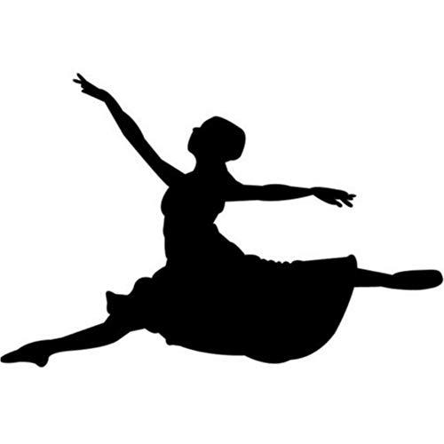 Springen Balletttänzer Ballerina Tanzen Wandaufkleber Gym Sport Dekor Kunst Aufkleber 54 * 82 cm
