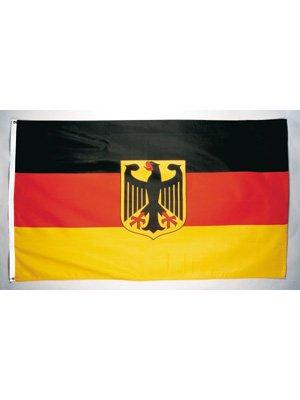 Gebraucht, Deutschland Fahne mit Wappen Stoff Fahne Länderfahne gebraucht kaufen  Wird an jeden Ort in Deutschland