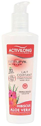 Activilong Natural Touch Lait Coiffant Hibiscus et Aloe Vera Bio 240 ml