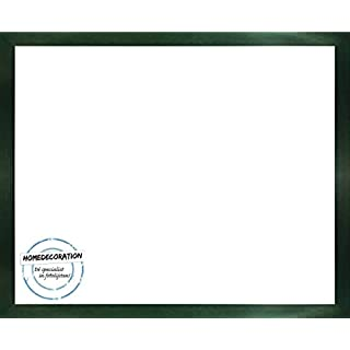 Lund Massivholz Bilderrahmen Fotorahmen 18 x 26,8 cm In 12 verschiedenen Farbvarianten 26,8 x 18 cm hier: Grün mit Acrylglas Antireflex 2 mm