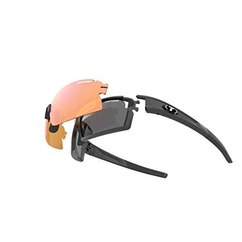 Tifosi Escalate SF Glasses Herren Matte Black - Smoke/ac red/Clear 2018 Fahrradbrille
