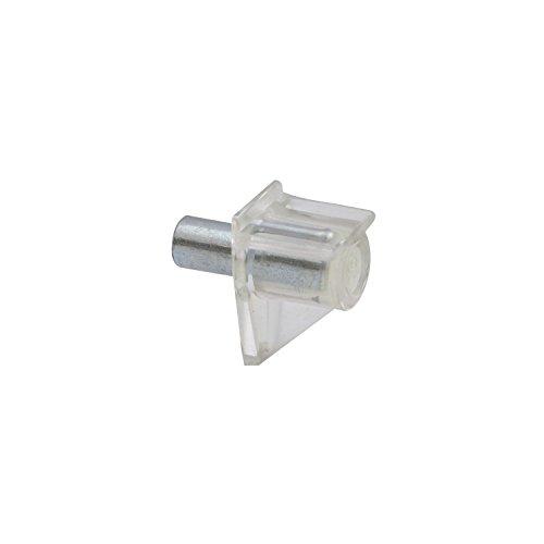 Kunststoff-dübel (SECOTEC Bodenträger Safety | Bohr ø 5mm | Kunststoff glasklar | Plattenträger zum Stecken| 80 Stück)
