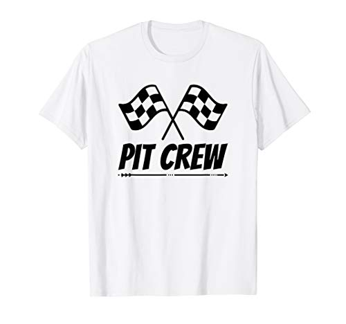 Funny Race Track T-Shirt Pit Crew Racing Mechanic TShirt  - Racing Pit Crew Shirt