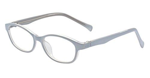 (ALWAYSUV Rechteckig Klare Gläsern Optische Stärke Rahmen Brillenfassung Nerd Brille für Kinder von 3 bis 12 Jahre Weiß)