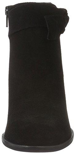 Vero Moda Vmfena Leather Boot, Stivali Bassi Non Imbottiti Donna Nero (Nero (nero))