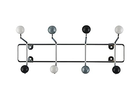 Present Time Hat Rack Saturnus with Black, White and Silver