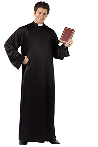 Lovelegis Kostüm Tunika Priester Verkleidung Karneval Halloween Cosplay Mann Farbe - Exorzist Kostüm Priester