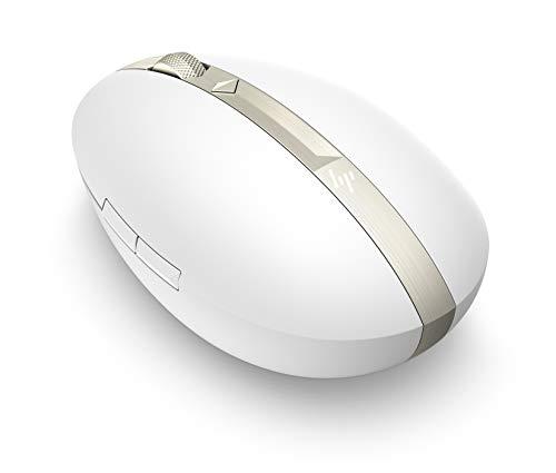 HP Spectre 700 (4YH33AA) kabellose Maus (wiederaufladbar, Bluetooth und USB Dongle, 4 Wege Scrollen, 1.600dpi, 5 Tasten) weiß