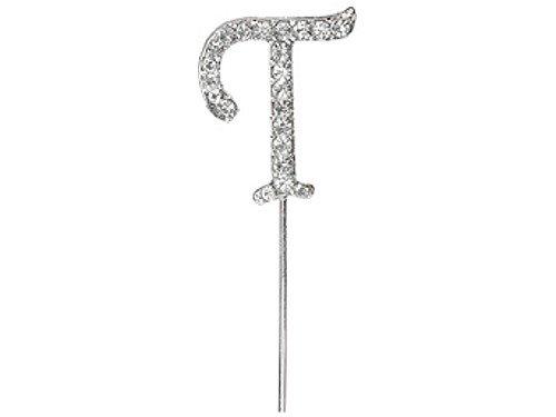 Club Green Diamant Buchstaben T auf dem Vorbau, Silber, 4,5cm -