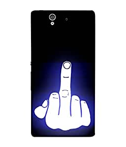 PrintVisa Hand Show Fuck Off 3D Hard Polycarbonate Designer Back Case Cover for Sony Xperia Z :: Sony Xperia ZC6603 :: Sony Xperia Z L36h C6602 :: Sony Xperia Z LTE, Sony Xperia Z HSPA+