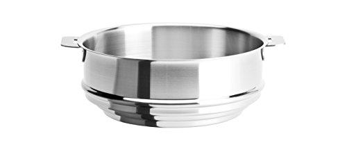Cristel - CVU24QL - Cuit-vapeur universel inox 24cm - sans poignée amovible- Collection Strate