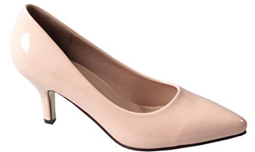 AgeeMi Shoes Femme Escarpins Talon Haut Sexy Stiletto Pointue Chaussures Abricot