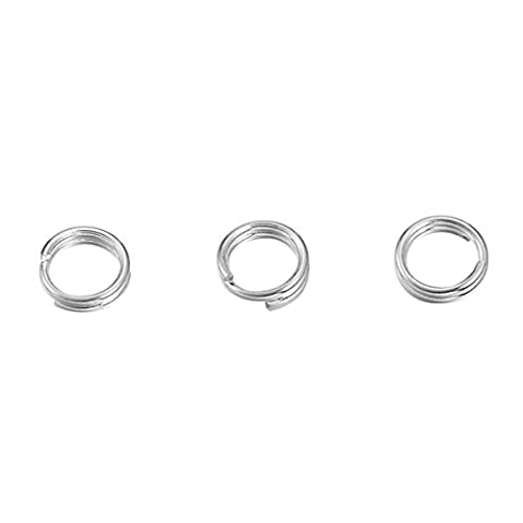 Housweety 925 Sterling Silver Double Loops Open Jump Rings-Jewellery Making Findings Beading