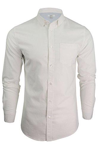 Xact Mens Long Sleeved Oxford Shirt by (White) XL