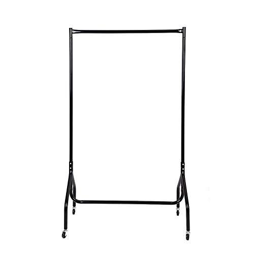 Zerone Garment Rack, 3ft Heavy Duty Rolling Garment Schiene Kleidung Aufhängen Display Organizer Regal in Schwarz, 88,9cm W x 45cm D x 149,1cm H