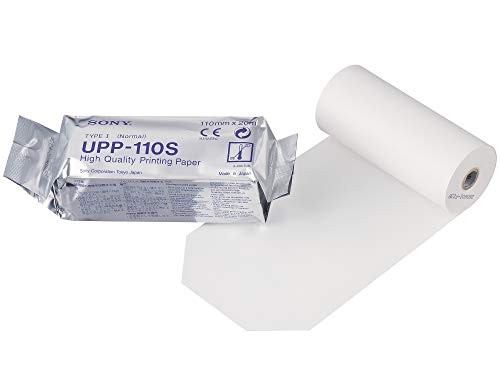 SONY UPP110S Hochwertige Thermopapierrollen für medizinische Schwarzweißdrucker - A6 (110mm x 20m)