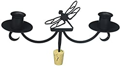 Village Wrought Iron 9.5 Inch Dragonfly, Black, Wine Bottle Topper