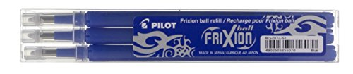 Pilot Refills for Frixion Rollerball 0.7 mm Tip - Blue, Pack of 3