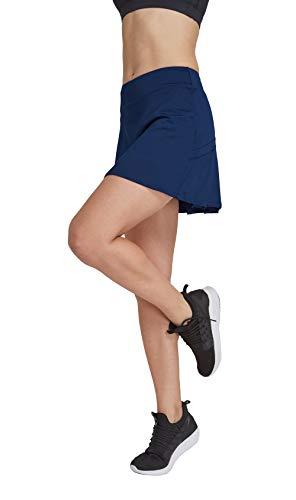 HonourSport Damen Tennisrock mit Sporttights Skirt Minirock Sport Skort XS-XXL ...