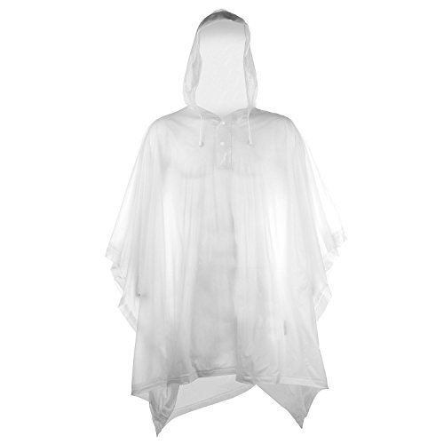 Splashmacs Unisex Adults Plastic Waterproof Rain Poncho Jacket One Size Clear