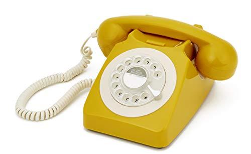 GPO Retro 746 - Teléfono (Teléfono analógico, Terminal con conexión por Cable, Amarillo)